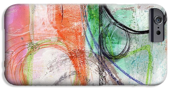 Modern Abstract Mixed Media iPhone Cases - Immersed iPhone Case by Linda Woods