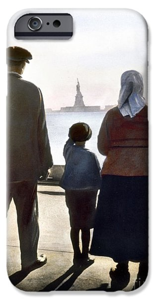1920 iPhone Cases - Immigrants: Ellis Island iPhone Case by Granger