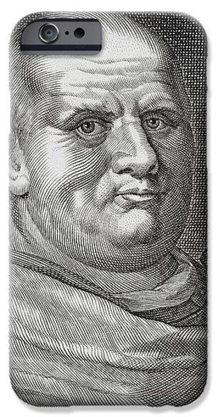 Flavius iPhone Cases - Imperator Caesar Vespasianus Augustus iPhone Case by Vintage Design Pics