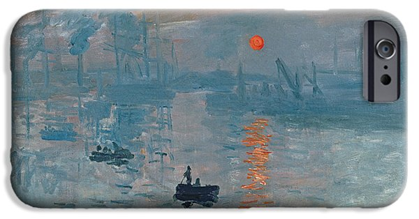 Boat Paintings iPhone Cases - Impression Sunrise iPhone Case by Claude Monet