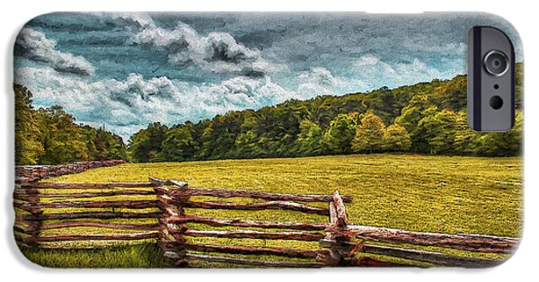 Recently Sold -  - Storm iPhone Cases - Impressionist Kennesaw Battlefield iPhone Case by Daniel Eskridge