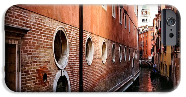 Facade iPhone Cases - Impressions of Venice - Palaces and Side Canals iPhone Case by Georgia Mizuleva