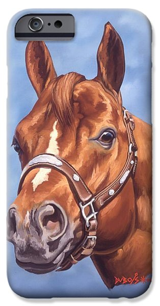 Horses iPhone Cases - Impressive iPhone Case by Howard Dubois