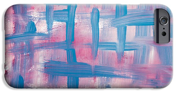 Contemporary Abstract iPhone Cases - Impulse Abstract Painting iPhone Case by Christina Rollo