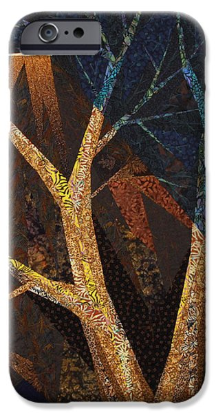 Evening Tapestries - Textiles iPhone Cases - In A Different Light iPhone Case by Linda Beach
