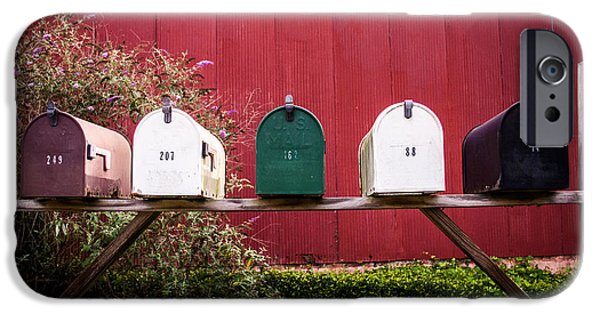 Recently Sold -  - Old Barns iPhone Cases - In a Row iPhone Case by Parker Cunningham