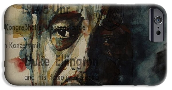Lips iPhone Cases - In A Sentimental Mood Duke Ellington iPhone Case by Paul Lovering