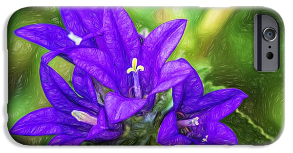 Plant iPhone Cases - In a Spring Garden - Paint iPhone Case by Steve Harrington