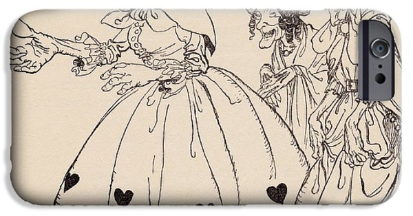 Strange iPhone Cases - In Came The Three Women Dressed In The iPhone Case by Vintage Design Pics