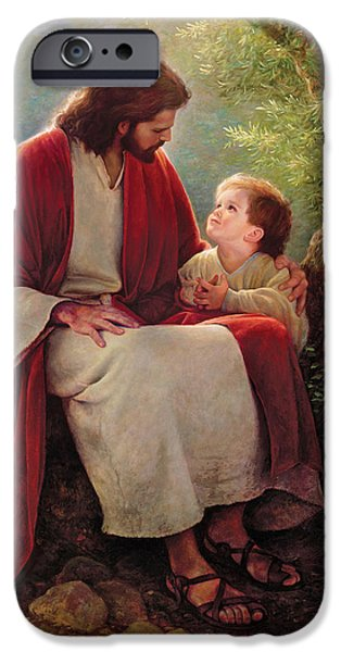 Child iPhone Cases - In His Light iPhone Case by Greg Olsen