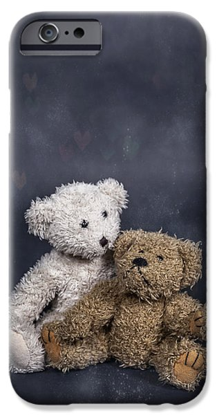 Stuffed Animal iPhone Cases - In Love iPhone Case by Joana Kruse