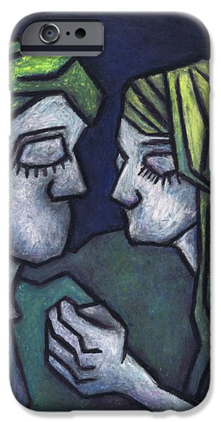 Couple Pastels iPhone Cases - In Love iPhone Case by Kamil Swiatek