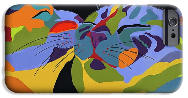 Feline iPhone Cases - In Love iPhone Case by Patti Siehien