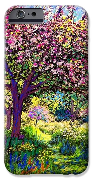 In Love with Spring iPhone Case by Jane Small