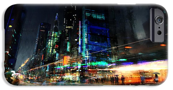 Cities Mixed Media iPhone Cases - In Motion iPhone Case by Philip Straub