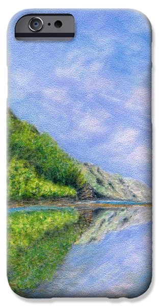 Graphic Design Pastels iPhone Cases - In Reflection iPhone Case by Kenneth Grzesik
