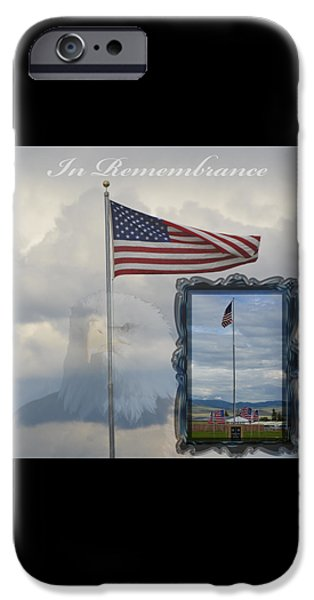 American Flag iPhone Cases - In Remembrance iPhone Case by Tammie McKinnon