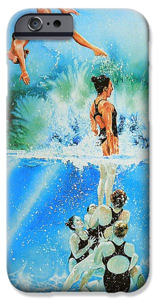 Sports Artist iPhone Cases - In Sync iPhone Case by Hanne Lore Koehler