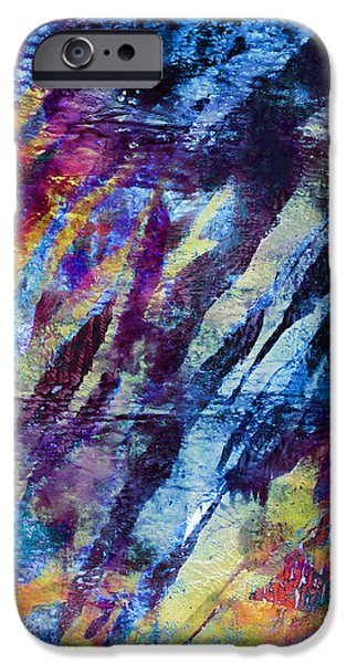 Recently Sold -  - Abstract Digital Art iPhone Cases - In the Bay iPhone Case by Laura L Leatherwood