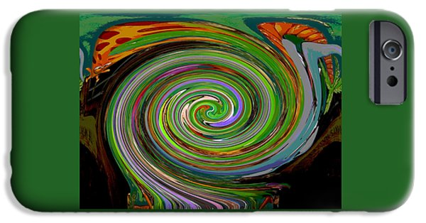Colorful Abstract iPhone Cases - In the Eye of the Storm iPhone Case by Marian Bell