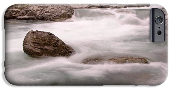 River iPhone Cases - In the flow of things iPhone Case by Jeff  Swan