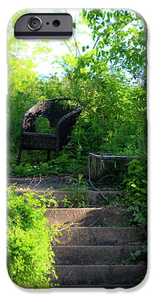Garden Scene Photographs iPhone Cases - In The Garden iPhone Case by Teresa Mucha