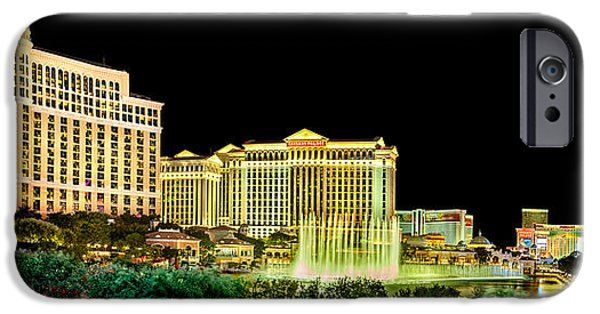 Stripes iPhone Cases - In The Heart Of Vegas iPhone Case by Az Jackson