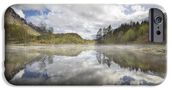 Norway iPhone Cases - In the Mist iPhone Case by Fred Gramoso