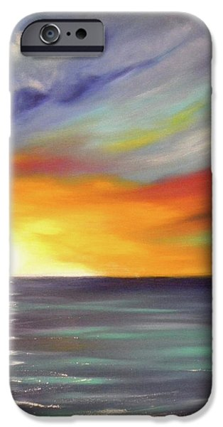 In the Moment Square Sunset iPhone Case by Gina De Gorna