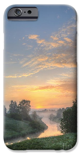 Beach Landscape iPhone Cases - In the morning at 04.27 iPhone Case by Veikko Suikkanen