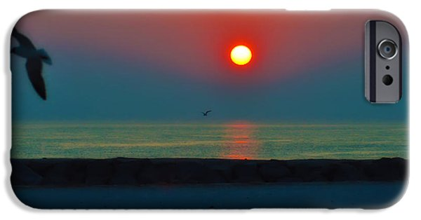 York Beach iPhone Cases - In the Morning Sun iPhone Case by Bill Cannon