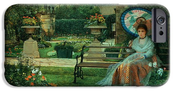In Bloom Paintings iPhone Cases - In the Plesaunce iPhone Case by John Atkinson Grimshaw