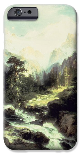 Fall Scenes iPhone Cases - In the Teton Range iPhone Case by Thomas Moran