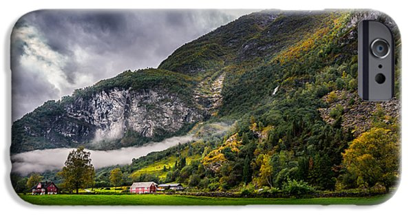 Autumn Scenes iPhone Cases - In the valley iPhone Case by Dmytro Korol