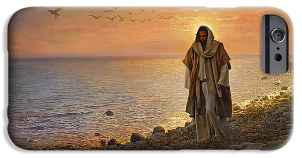 Religious Art iPhone Cases - In the World Not of the World iPhone Case by Greg Olsen