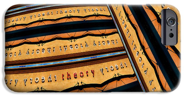 Abstract Digital Photographs iPhone Cases - In Theory iPhone Case by Paul Wear