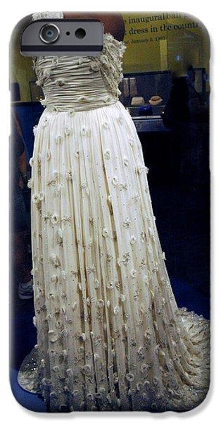 Inaugural Gown iPhone Cases - Inaugural gown on display iPhone Case by LeeAnn McLaneGoetz McLaneGoetzStudioLLCcom