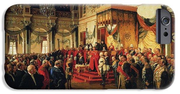 Inauguration Paintings iPhone Cases - Inauguration iPhone Case by Anton von Werner