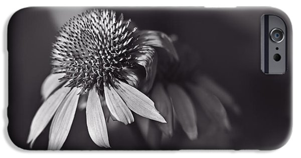 Red Abstract iPhone Cases - Incandescent Beauty - Monochrome iPhone Case by F Leblanc