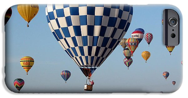 Hot Air Balloon iPhone Cases - Incoming iPhone Case by Paul Anderson
