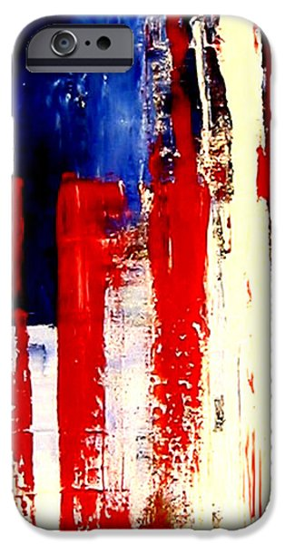 Independence Day Mixed Media iPhone Cases - Independence Day iPhone Case by Charles Jos Biviano