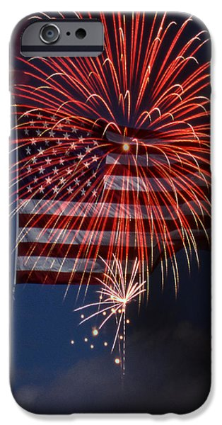 4th July Photographs iPhone Cases - Independence Day iPhone Case by Skip Willits