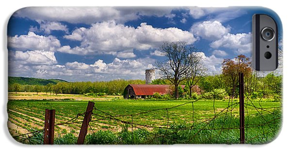 Old Barns iPhone Cases - Independence Farm iPhone Case by Mark Miller