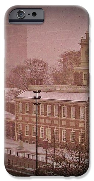 Independence Hall in the Snow iPhone Case by Bill Cannon