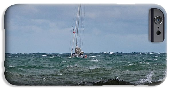 Recently Sold -  - Sailboat iPhone Cases - Independence iPhone Case by Jane Greiner