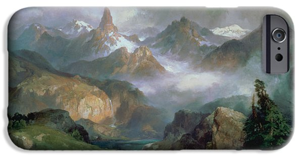 Mountain Paintings iPhone Cases - Index Peak iPhone Case by Thomas Moran