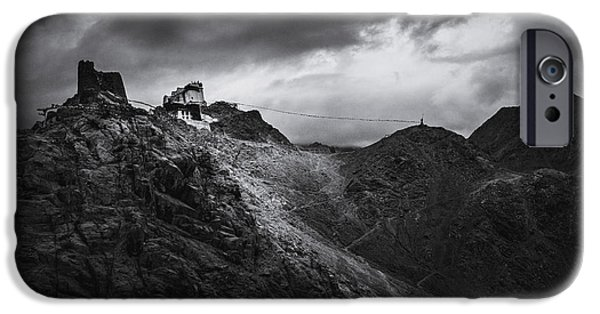 Tibetan Buddhism iPhone Cases - India. Ladakh. Tsemo Namgyal monastery in Leh. iPhone Case by Quynh Anh Nguyen