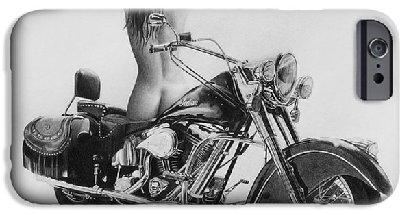 Mechanics Drawings iPhone Cases - Indian Beauty iPhone Case by Stephen McCall