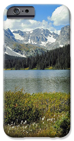 Snowbank iPhone Cases - Indian Peaks Wilderness Area, Colorado iPhone Case by Robert and Jean Pollock