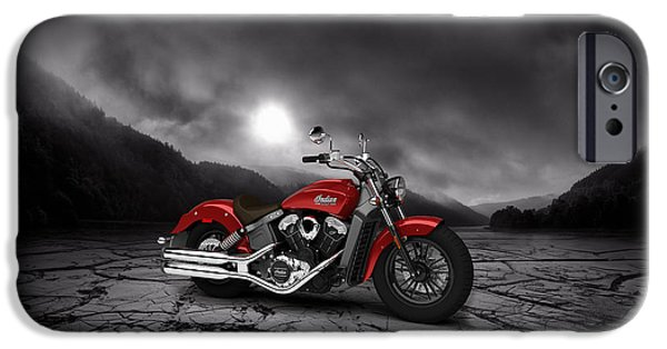 Mountain Valley iPhone Cases - Indian Scout 2015 Mountains 02 iPhone Case by Aged Pixel